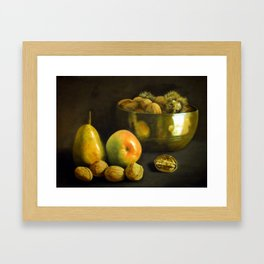 Fruit and Nuts Framed Art Print
