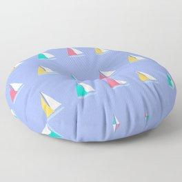 Colorful Summer Sailboats Floor Pillow