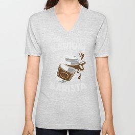 Coffee Barium Barista Coffee Mug Goft Unisex V-Neck