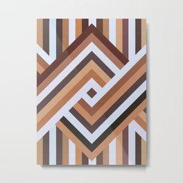 Geometric Art with Bands 07 Metal Print