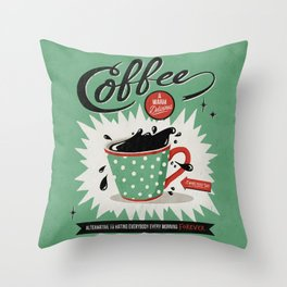 Saved By Coffee Throw Pillow