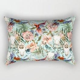 Pattern tropical boho skull Rectangular Pillow