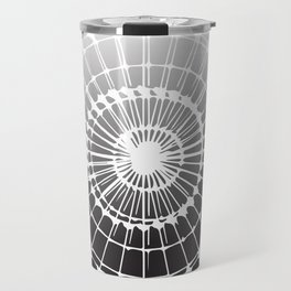 White Black Radiance Travel Mug