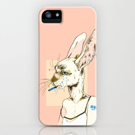 goopy rabbit iPhone Case