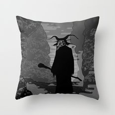 The Demon Throw Pillow