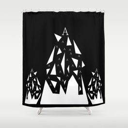 Triangle A Shower Curtain