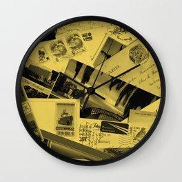 Postcards Wall Clock