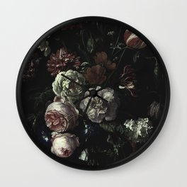 Arms Full Of Flowers II [antique painting remixed] Wall Clock