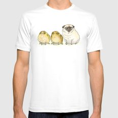 Glum Chums - Pug and Toad are Friends White Mens Fitted Tee 2X-LARGE