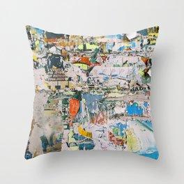 Street collage 1 Throw Pillow