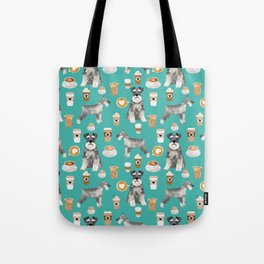 Schnauzer coffee dog breed pet art pure breed cafes pupuccino Tote Bag