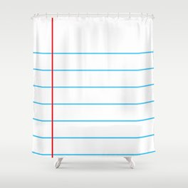 Notebook Paper Shower Curtain