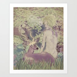 Diana, my deer Art Print