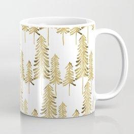 Pine Trees – Gold Palette Coffee Mug
