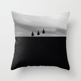 Floating Trees Throw Pillow