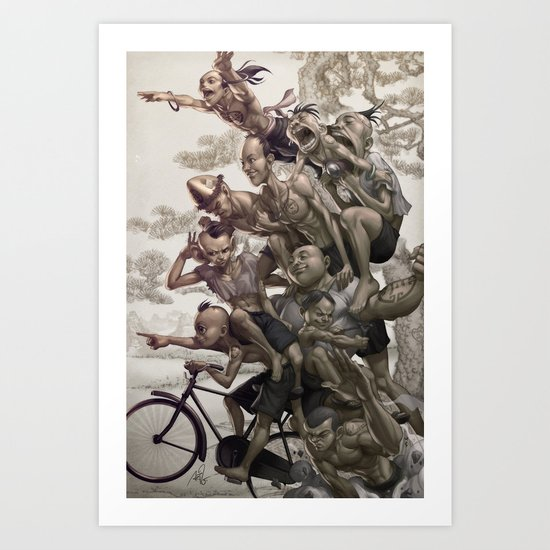 Ten Brothers Art Print