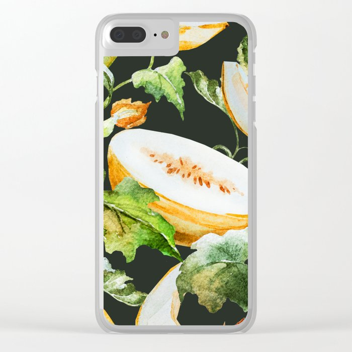 Melon Pattern 14 Clear iPhone Case