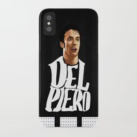 juventus iPhone & iPod Cases featuring Del Piero by Sport_Designs