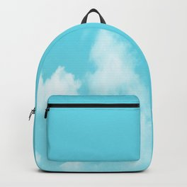 Aqua Blue Clouds Backpack