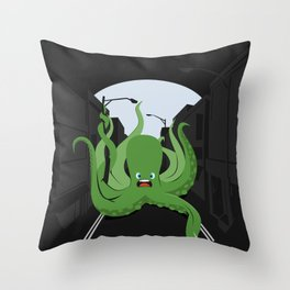 Urban Octopus Throw Pillow
