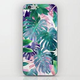 Pastel Summer Tropical Emerald Jungle iPhone Skin