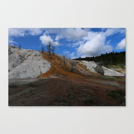 Mammoth Hot Spring Colors Canvas Print