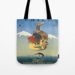 Vintage poster - Chile Tote Bag