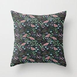 Moth & Starling Throw Pillow