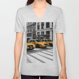 NYC - Yellow Cabs - Shops Unisex V-Neck