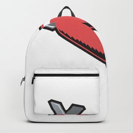 Red Torpedo Retro Backpack