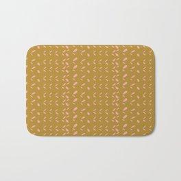 Abstract blush pink mustard yellow watercolor geometrical pattern Bath Mat