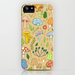 magic mushrooms (tan) iPhone Case