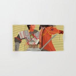 alexander the great mosaic riding a horse Hand & Bath Towel