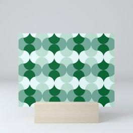 Mid-Mod Mirrored Green Mini Art Print
