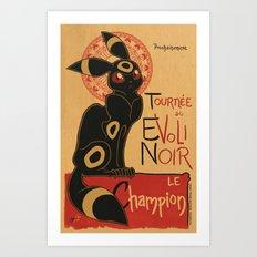 Le Evoli Noir Art Print
