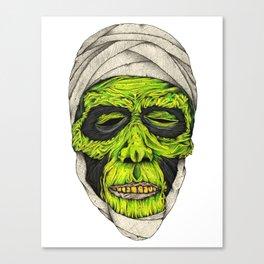 Mummy Head Canvas Print