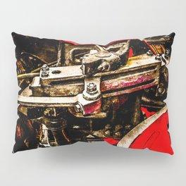 Vintage Steam Engine Locomotive - Driving Gear Pillow Sham