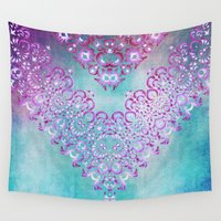 fairy tale Wall Tapestries featuring Floral Fairy Tale by Octavia Soldani