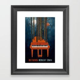 Moonlight Sonata - Beethoven Framed Art Print