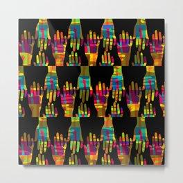 Hand made patchwork Metal Print
