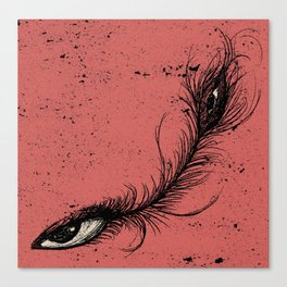 pink eye feather. Canvas Print