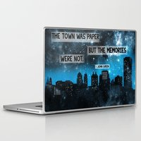 john green Laptop & iPad Skins featuring Paper Towns John Green Quote by denise