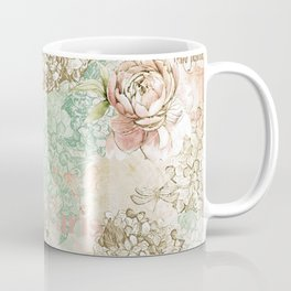 I love Paris - Vintage Shabby Chic - Eiffeltower France Flowers Floral Coffee Mug
