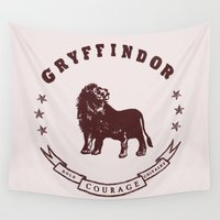 gryffindor Wall Tapestries featuring Gryffindor House by Shelby Ticsay