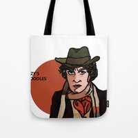 david tennant Tote Bags featuring David Tennant by Izzy King