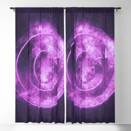 Copyright symbol. Abstract night sky background Blackout Curtain
