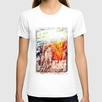 chicago bulls T-shirts featuring Beach Bulls by Zhineh Cobra