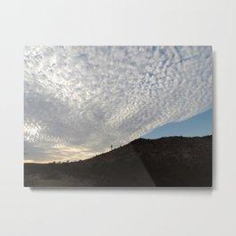 Cloudy Roll Metal Print