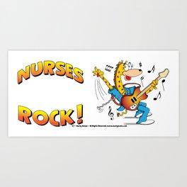 Nurses Rock Side by Side Art Print