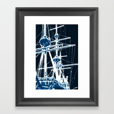 Light's storm Framed Art Print